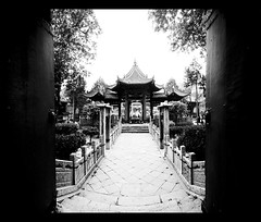 Welcome (davidfattibene) Tags: china bw architecture temple panoramic xian bncitt