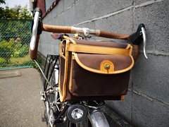 Chrissy's New Custom Guu-Watanabe Handlebar Bag (WillJL) Tags: classic bike bicycle japan japanese steel berthoud custom touring fenders brooks mavic toei nitto schwalbe shimano mixte honjo handbuilt randonneur sugino lugged decaleur guuwatanabe