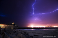 New Brighton Lightning! (Paul Fessey) Tags: new blue sea storm beach rock skyline liverpool paul photography nikon brighton purple fort bolt perch lightning lightening excitement thunder wirral newbrighton merseyside d300 fessey almostweedmyself