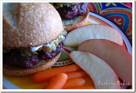 Barbara Bakes: Green Chile Pepper & Cream Cheese Burger