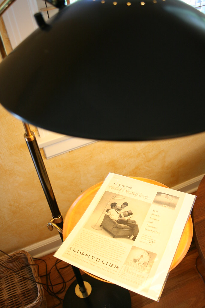 Floor Lamp and Magazine Ad