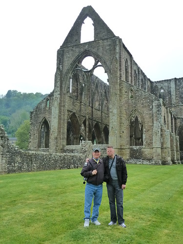 Larry and Mark at Tintern Abbey by litlesam