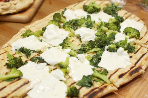 Broccoli, Green Garlic, and Fresh Mozzarella Pizza