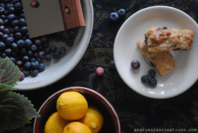 Lemon- Blueberry Scones