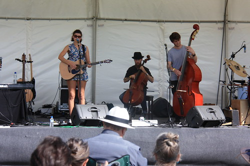 Hattie Briggs and her band
