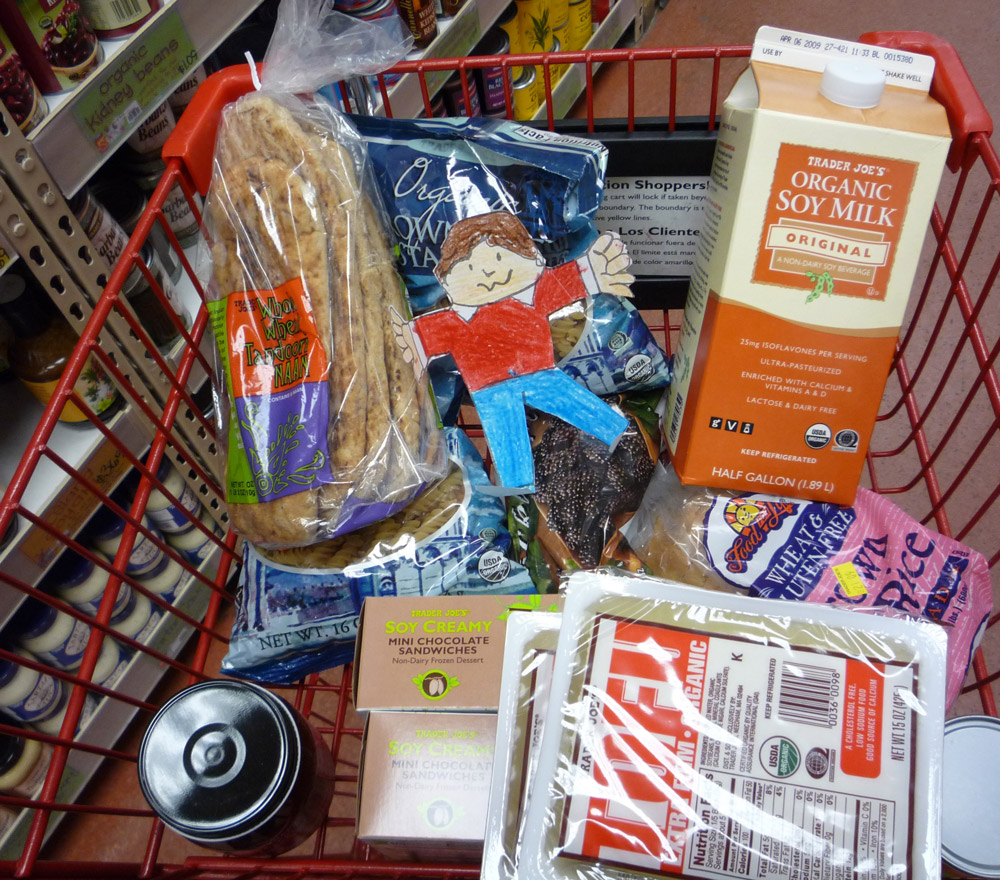 Flat Stanley at Trader Joe's