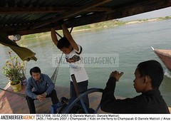 DM-Laos-018 (American Crew) Tags: man men water ferry boats boot boat asia asien wasser crossing boote exotic rivers mann southeast laos fluss mekong maenner champasak fluesse suedostasien frenchcolony anzenberger