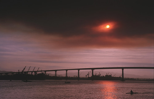 SD Bay during So. Cal. Wildfires (a)