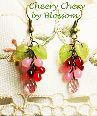 cheery cherry-earrings