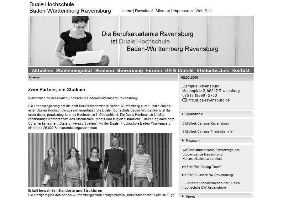 screenshot: wir auf www.ba-ravensburg.de