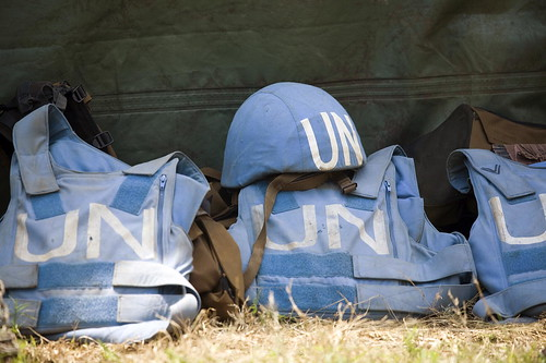 Helmet and Flack Jackets of MONUC Peacek by United Nations Photo, on Flickr