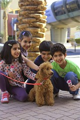 party of 5 (explored) (Ghadeer Q) Tags: girls portrait dog pet boys smile kids puppy children happy weekend explore mai icecream kuwait omar marinamall abdulla canon24105 noaf ghadeerq exploredonmar92009180