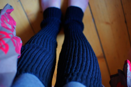 black legwarmers