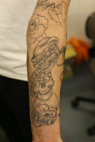 see no evil boog piece tattoo