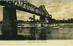 International Bridge, Cornwall. (a7miller) Tags: ontario vintage cornwall postcard internationalbridge