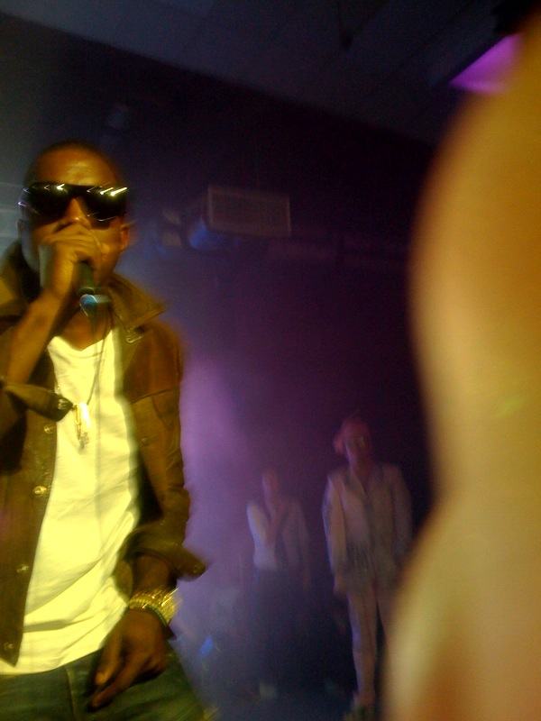 Kanye from my iPhone at the Perez Hilton Party