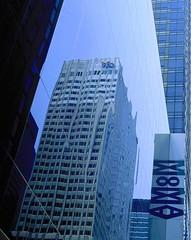 WoWA (Trapac) Tags: city newyorkcity blue windows summer urban usa signs newyork reflection film sunshine museum architecture skyscraper buildings fuji artgallery manhattan slide moma museumofmodernart nikkor50mmf18 e6 nikonf80 officeblock 50iso fujivelvia wmh wowa peakimaging oldoriginalvelvia50 processedscannedbypeakimagingsheffield gtyap1711