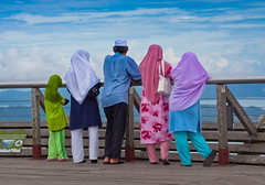 Colorful Muslim Family (Jim Boud) Tags: family people canon observation colorful muslim hijab malaysia colourful hdr xsi topaz 450d jimboud colorphotoaward jrbxom jamesboud jamesboudphotoart gettyvacation2010