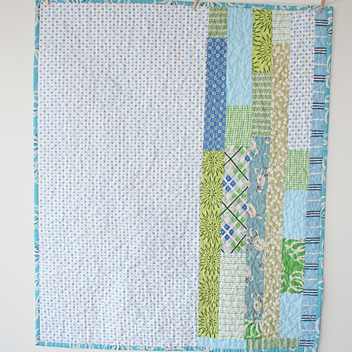 Blue and Green Quilt Back
