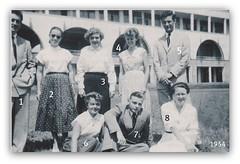 Classe terminale en juin 1954 n1