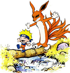 naruto and nine tail fox (lady lycan (rules the night)) Tags: funny comic tail nine calvin fox naruto hobbes