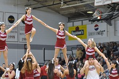 Rider Cheerleaders Build a Pyramid (MNJSports) Tags: girls men basketball dance cheerleaders pyramid jazz dragons block cheer root broncos rider yell rhythm stunt dribble acrobatic drexel layup jumpshot leonspencer jamieharris scottrodgers drexelbasketball geraldcolds tramaynehawthorne mikeringgold evanneisler kennytribbett riderbasketball bruiserflint riderspiritgroups
