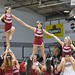 Rider Cheerleaders Build a Pyramid