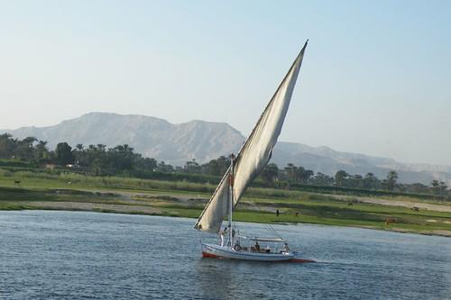 Sailing down the Nile