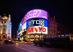 Picadilly At Night (Philipp Klinger Photography) Tags: street uk light england sky london car night nikon long exposure purple britain circus united tripod great illumination police picadilly kingdom add gb lcd philipp dri hdr klinger at platinumphoto anawesomeshot d700 theunforgettablepictures goldstaraward dcdead 185527