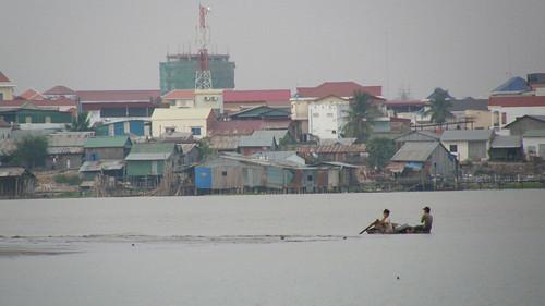 75.Boeng Kak Lake上的船家
