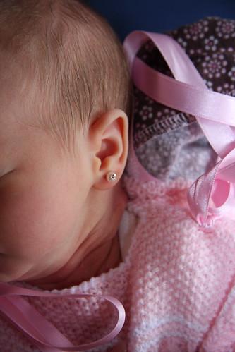 Nora's Pierced Ears - Take One