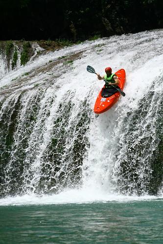kayaking down waterfalls