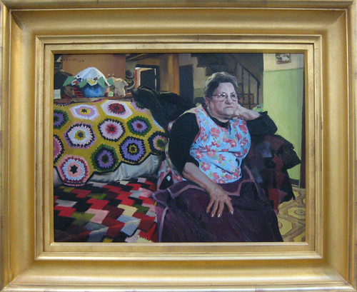 michael de brito - grandmother with quilt
