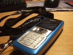 Nokia Lapwing (theslay3r) Tags: wood blue black mobile table mouse nokia keyboard dof phone lapwing landyard