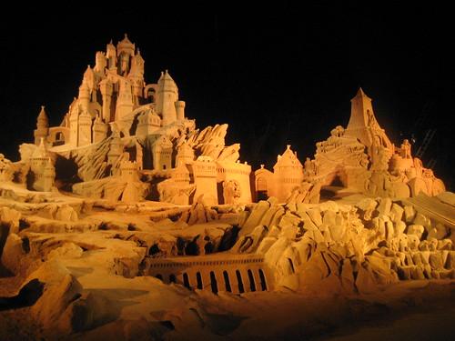 世界砂像フェスティバル ライトアップ
