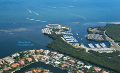 Miami From Above - Matheson Hammock (danmiami) Tags: city building water buildings airplane geotagged florida miami map aerial mapped