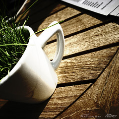 Fresh Coffee (cPutter) Tags: wood green cup coffee grass germany geotagged grain fresh weilheim platinumheartaward geo:lon=8671796 cputter geo:lat=49546278
