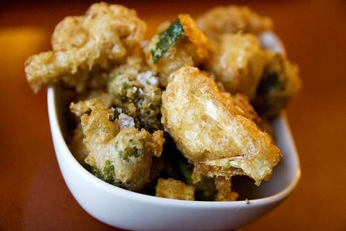 fried zucchini, broccoli, and cauliflower