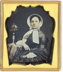 Pretty girl in bonnet (Mirror Image Gallery) Tags: daguerreotype bonnet tinted prettygirl