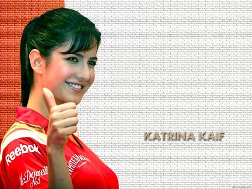 Katrina Kaif in cricket jersy