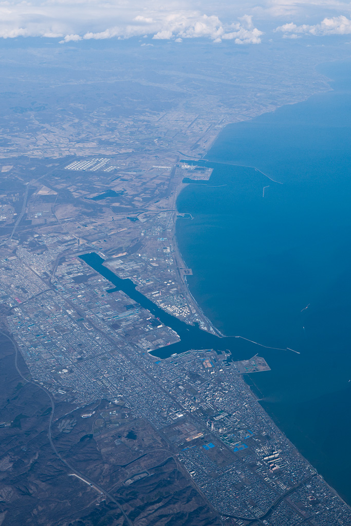 Tomakomai port view from the sky