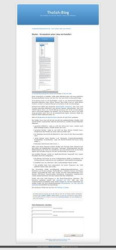 Screenshot Blog-Eintrag #421