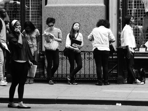 On line, NYC