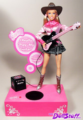 I Can Be a Cool Musician Barbie Doll (Charles (dollstuff.net)) Tags: music doll silent guitar auction oneofakind ooak battery barbie handpainted convention customized cowgirl custom talking electronic career repaint repainted playline