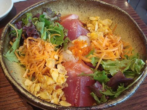 Sashimi salad@Hanaichi