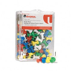 Plastic-Head-Rainbow-Color-Push-Pins-Steel-3-8-Point-100-per-Pack_136720