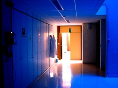 Light at the end of the corridor (jepoirrier) Tags: light night lab corridor science hallway laboratory mad passage phd biology crc ambiance ulg
