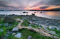 Chain of straws (Rob Orthen) Tags: sunset sea sky rock suomi finland landscape nikon rocks europe dusk scenic straw rob tokina 09 nd scandinavia 06 meri maisema vesi kes pinta d300 gnd 1116 nohdr orthen leefilters roborthenphotography tokina1116 tokina1116mm28 seafinland