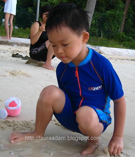 RZ on beach