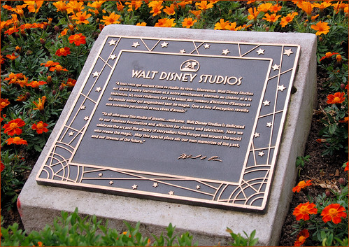 Walt Disney Studios Dedication